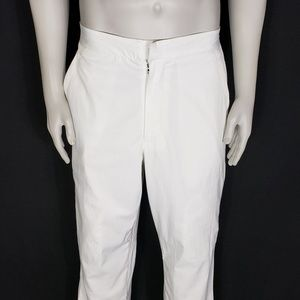 Ralph Lauren Men's White Flat Front Wind Pants Med